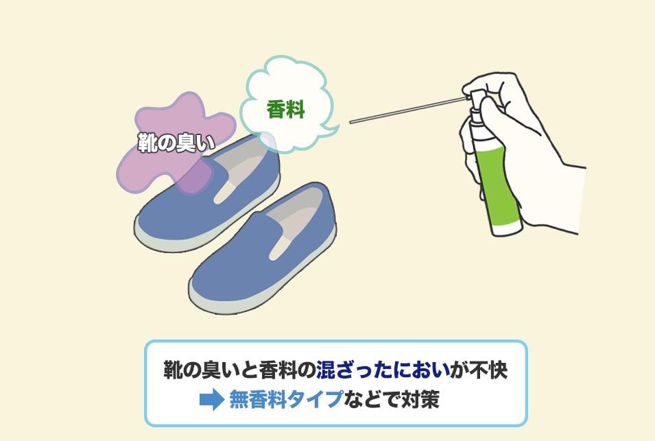 靴の臭いと消臭グッズの臭いが混ざるのが気になるときは『無香料タイプ』