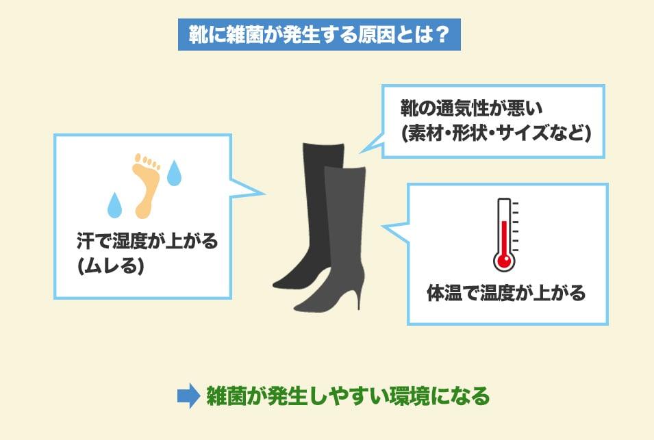 靴消臭グッズは『臭いの原因を除去・抑制』するための道具