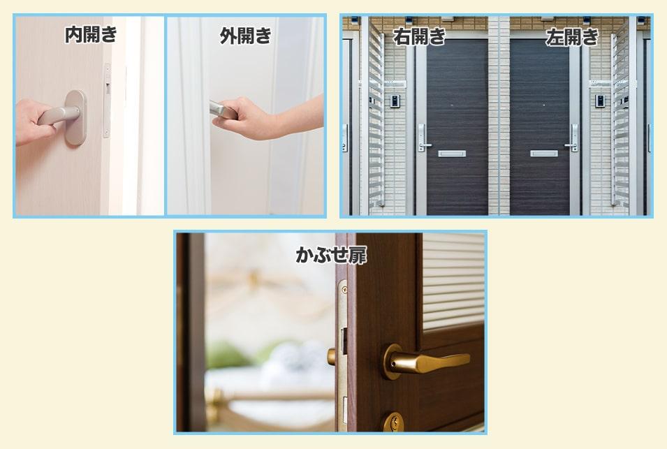 玄関ドア用の補助錠は『開き方』『ドアの形状』に注意