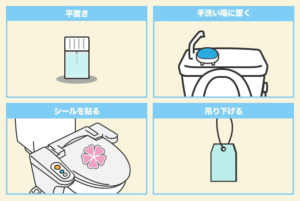 『設置タイプ』のトイレ消臭剤