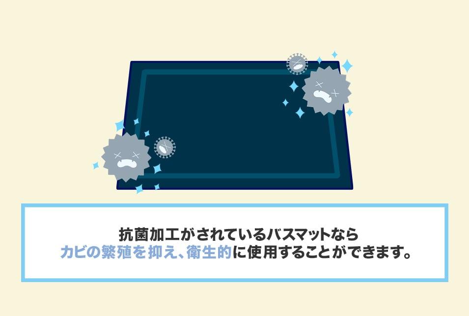 衛生面対策もバッチリな抗菌バスマット