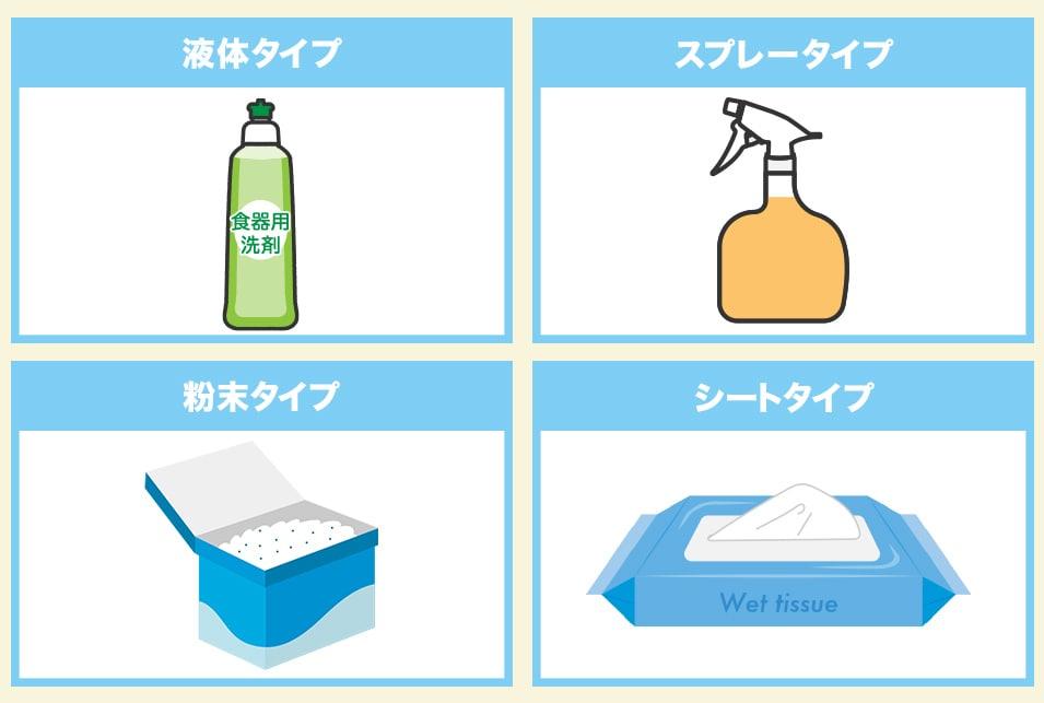 油汚れ洗剤の種類で選ぶ