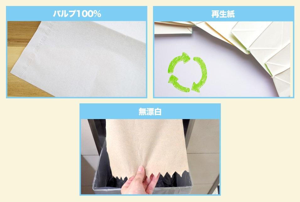 ペーパータオルを『紙の種類』で選ぶ