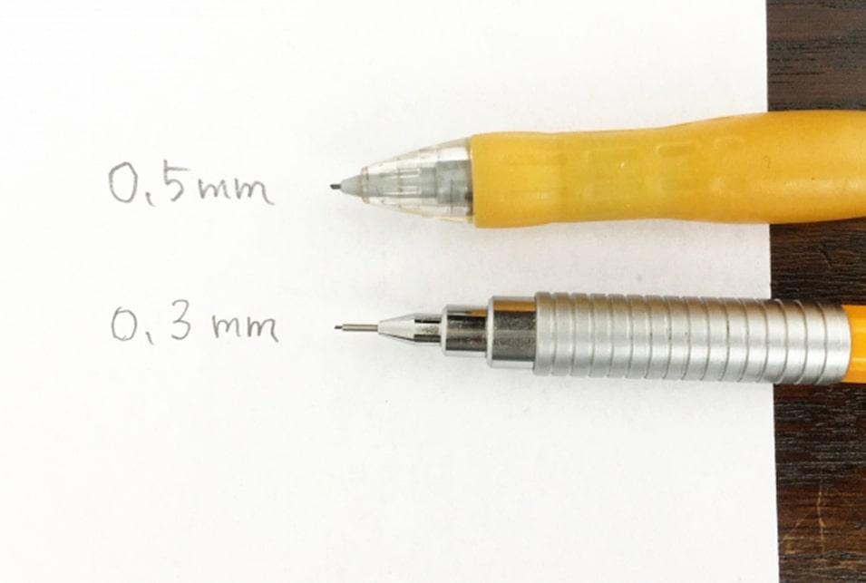 シャープペンを選ぶときは『芯の太さ』もチェック