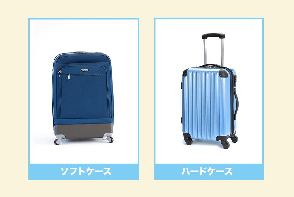 サムソナイトスーツケースの『ソフトケース・ハードケース』の特徴とは?